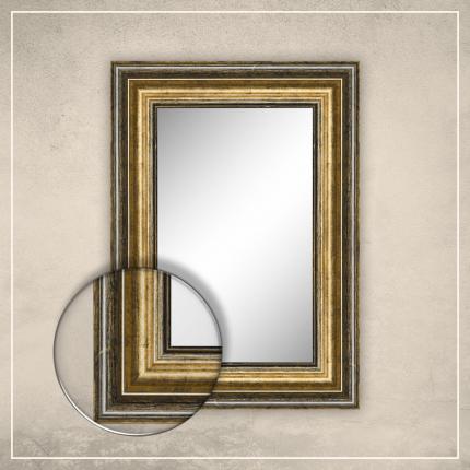 Peegel Tom musta/kuldse raamiga