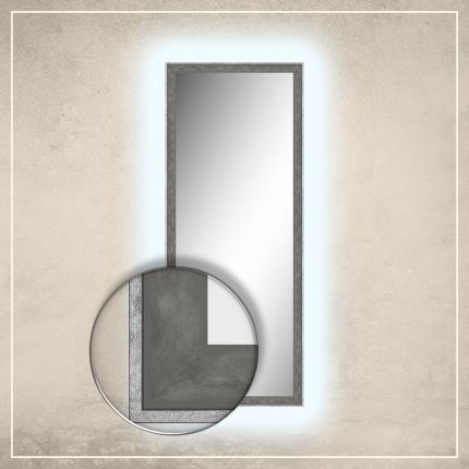 LED taustavalgusega peegel Fredi halli raamiga