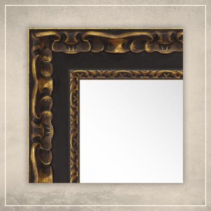 Peegel Paris musta/kuldse raamiga