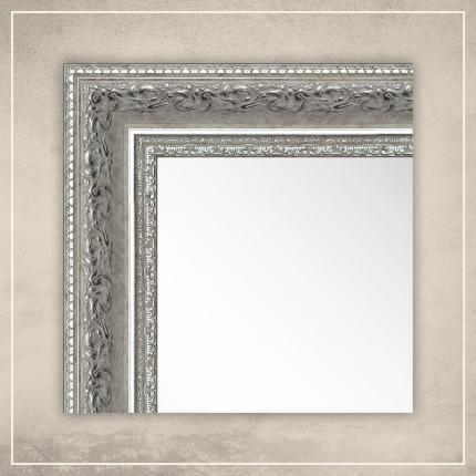 Peegel Amara valge/hõbedase raamiga