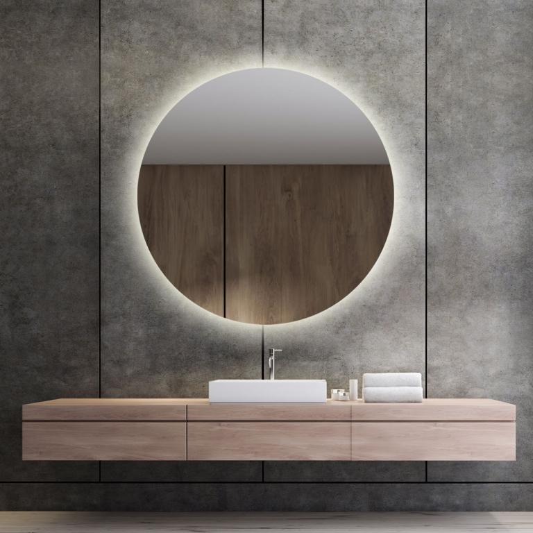 LED valgusega ümmargune peegel Brenda (D=110cm)