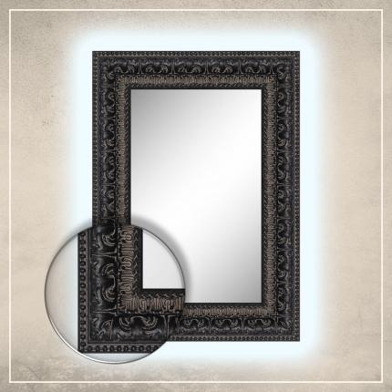 LED taustavalgusega peegel Greg musta raamiga