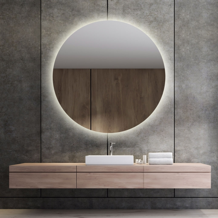 LED valgusega ümmargune peegel Brenda (D=120cm)