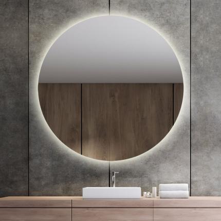 LED valgusega ümmargune peegel Brenda (D=130cm)