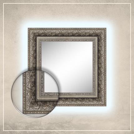 LED taustavalgusega peegel Auden hõbedase raamiga