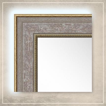LED taustavalgusega peegel Monet halli raamiga