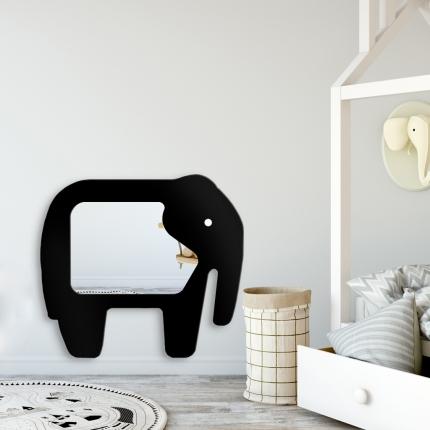 Peegel Elevant musta raamiga (100x110cm)