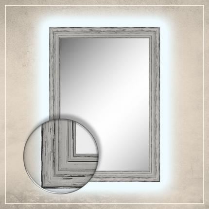 LED taustavalgusega peegel Oskar valge raamiga