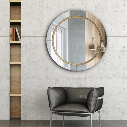 Ümmargune peegel Wiki peeglist raamiga (80x80cm)