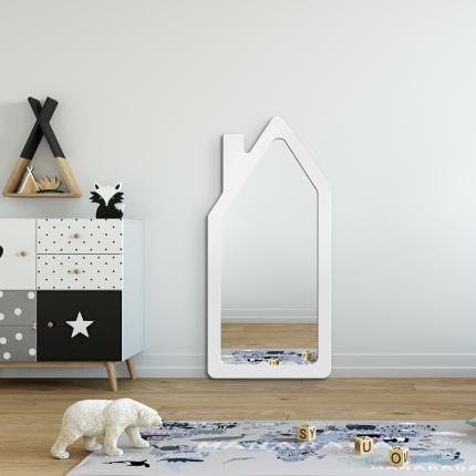 Peegel House valge raamiga (45x95cm)