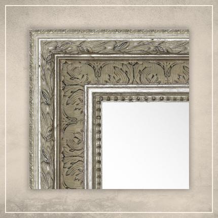 Peegel Robin hõbedase raamiga