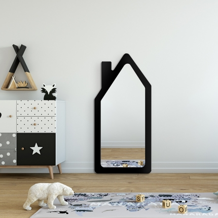 Peegel House musta raamiga (45x95cm)