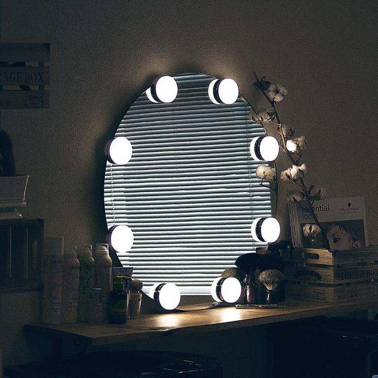Meigipeegel Holly LED valgustusega (D=70cm)
