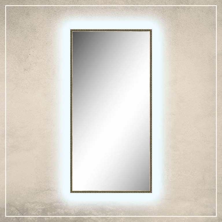 LED taustavalgusega peegel Klaus tumekuldse raamiga