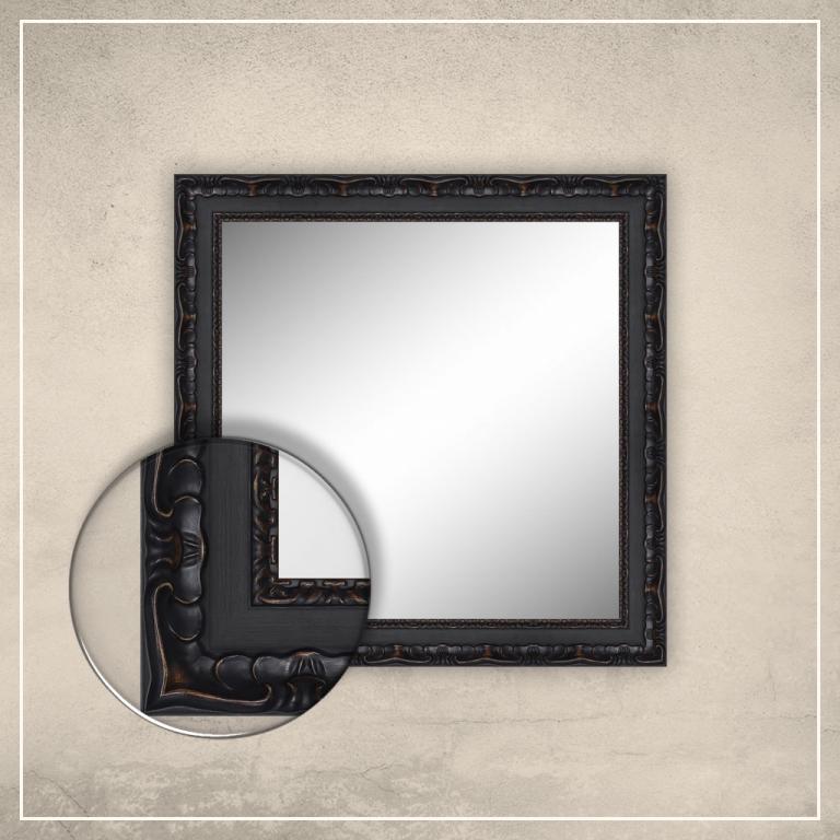 Peegel Paris musta raamiga