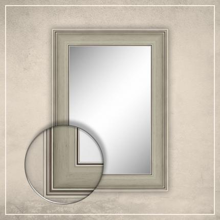 Peegel Max valge/hõbedase raamiga