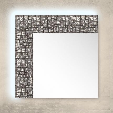 LED taustavalgusega peegel Olivia hõbedase raamiga