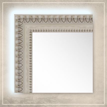 LED taustavalgusega peegel Reina valge raamiga