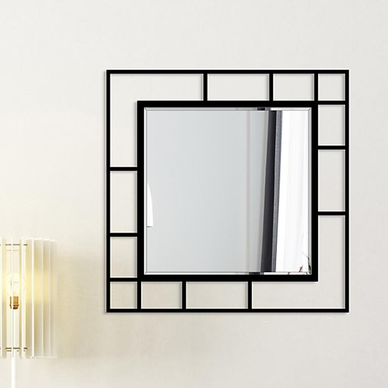Disainpeegel Famis musta raamiga (95x95cm)