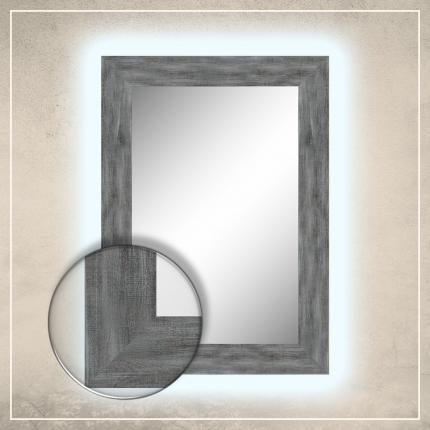 LED taustavalgusega peegel Walker helesinise raamiga