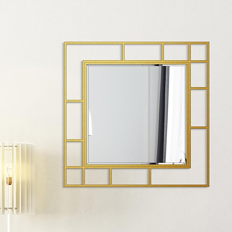 Disainpeegel Famis kuldse raamiga (95x95cm)