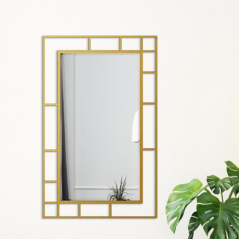 Disainpeegel Famis kuldse raamiga (95x152cm)