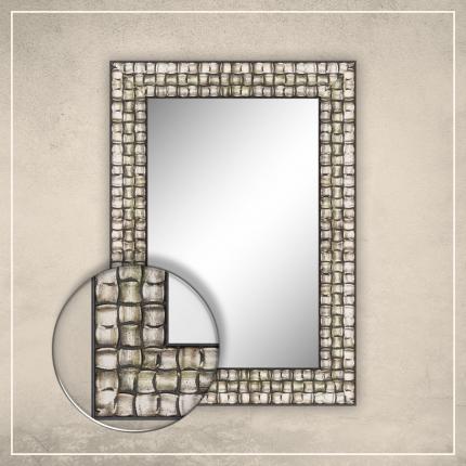 Peegel Leevi hõbedase/musta raamiga