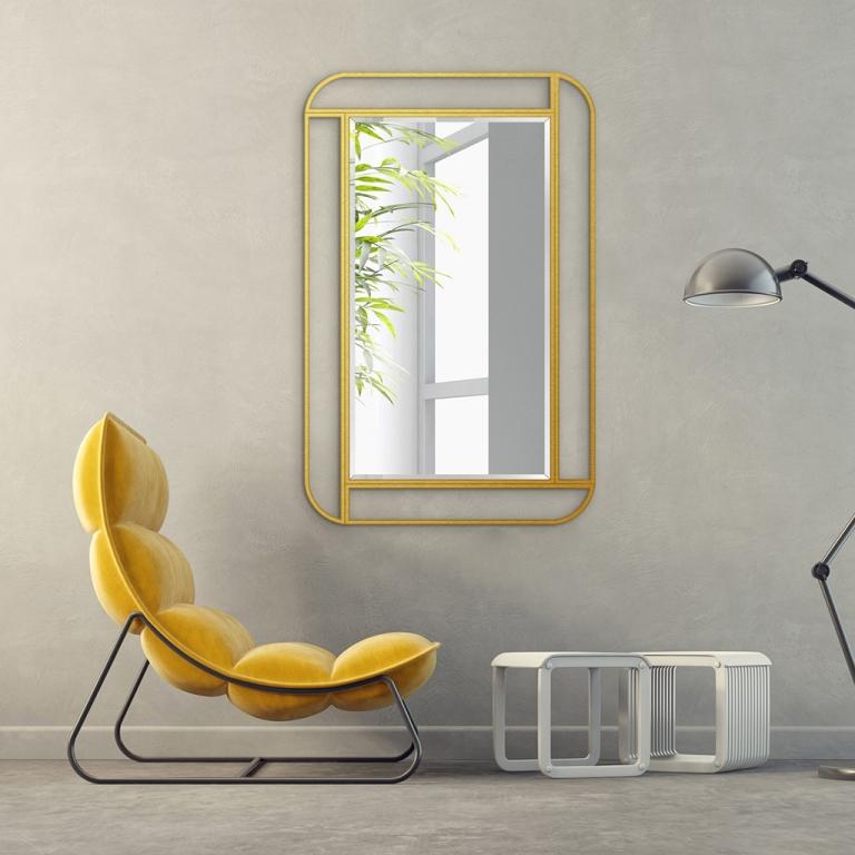 Disainpeegel Moris kuldse raamiga (67x92cm)