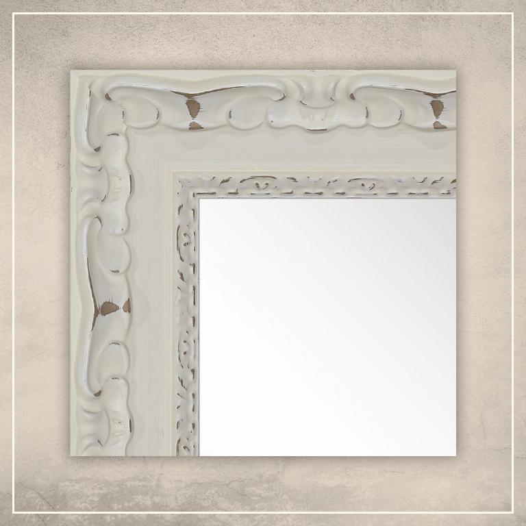 Peegel Paris valge raamiga