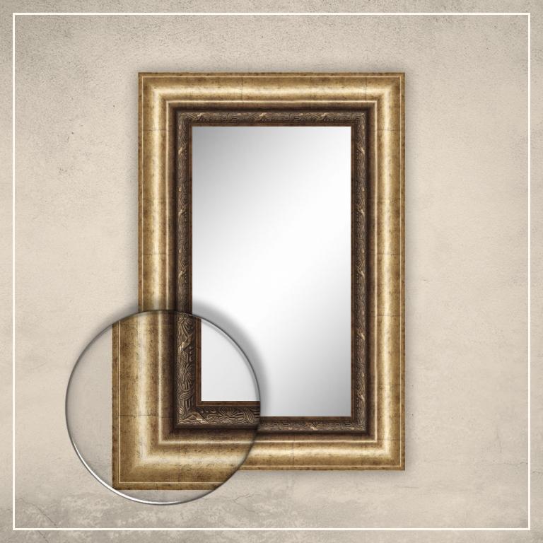 Peegel Alexa kuldse raamiga