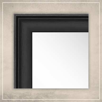 Peegel Orion musta raamiga
