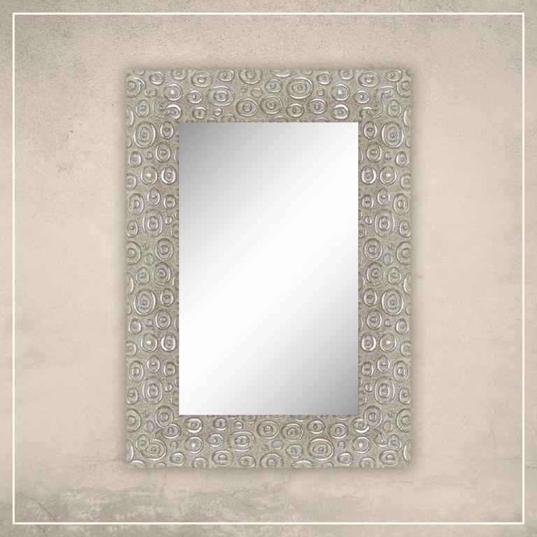 Peegel Laila valge/hõbedase raamiga