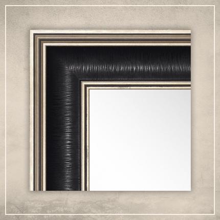 Peegel Max musta/hõbedase raamiga