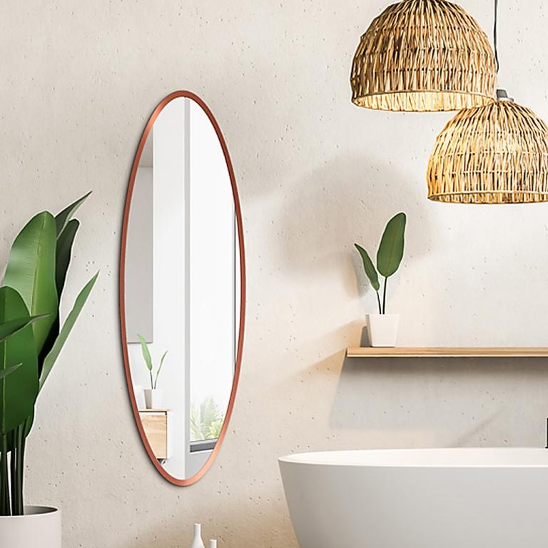 Ovaalne peegel Maloma vasetooni raamiga (50x120cm)