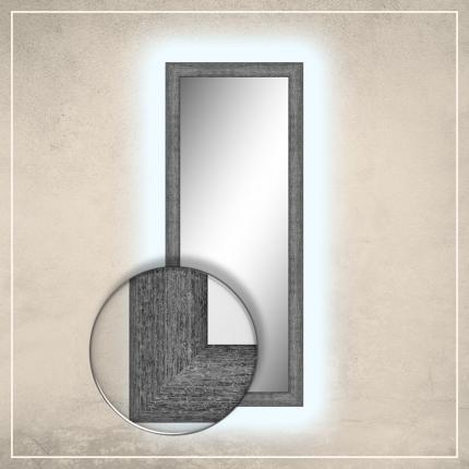 LED taustavalgusega peegel Teo halli raamiga