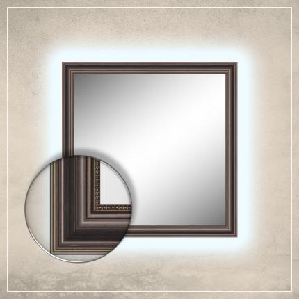 LED taustavalgusega peegel Lily tumepruuni raamiga