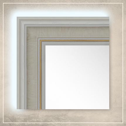 LED taustavalgusega peegel Lucas valge raamiga