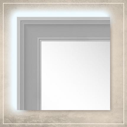 LED taustavalgusega peegel Leo valge raamiga