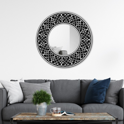 Ümmargune peegel Verni klaasist raamiga (70x70cm)