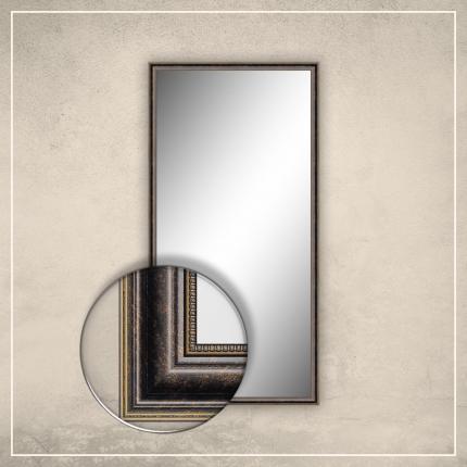Peegel Lily tumepruuni/kuldse raamiga