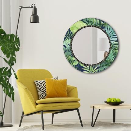 Ümmargune peegel Tropic klaasist raamiga (70x70cm)
