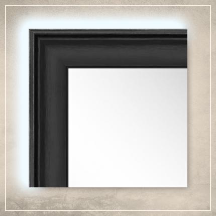 LED taustavalgusega peegel Orion musta raamiga