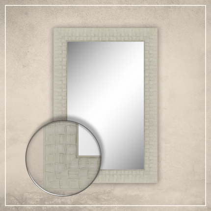 Peegel Leevi valge raamiga