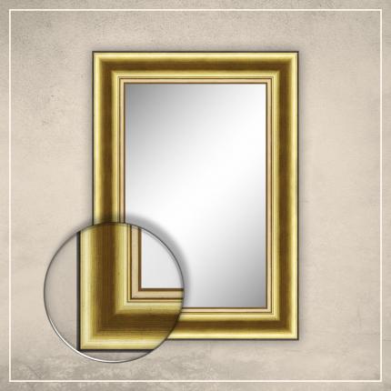 Peegel Carol kuldse/pruuni raamiga