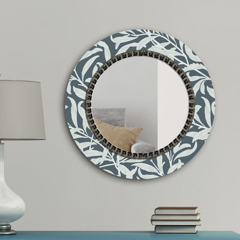 Ümmargune peegel Willow klaasist raamiga (70x70cm)