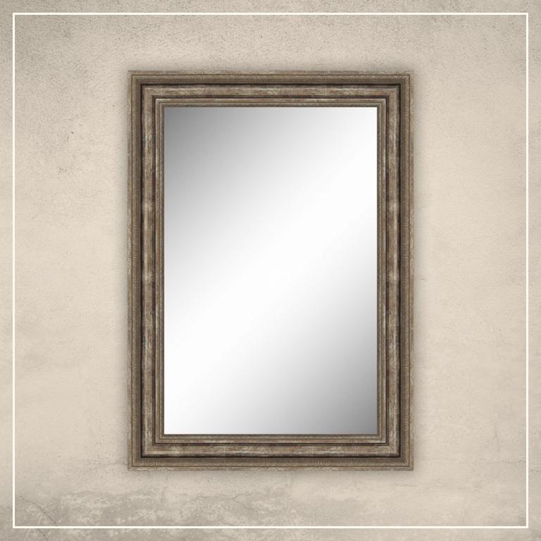 Peegel Clara hõbedase/pronksi raamiga