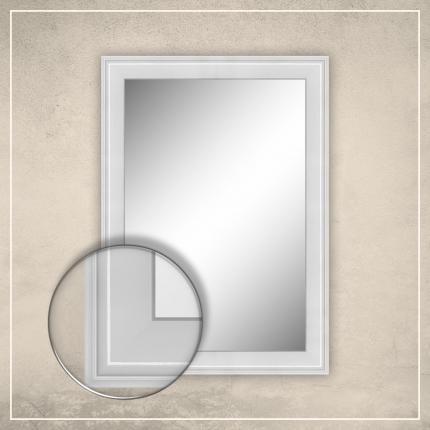 Peegel Orion valge raamiga