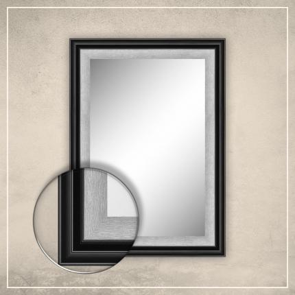 Peegel Karla musta/hõbedase raamiga