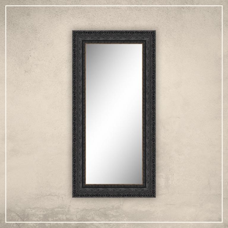 Peegel Julius musta raamiga