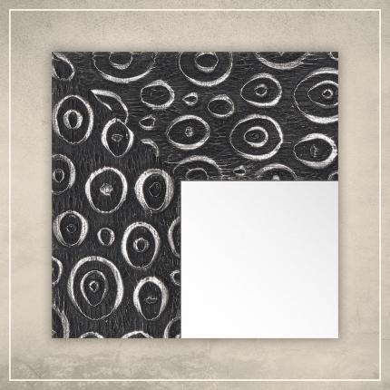 Peegel Laila musta/hõbedase raamiga
